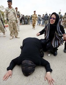 Iranian women protest in Diyala province