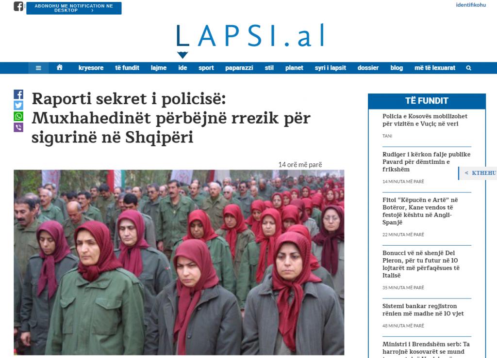 Albanian-Police-Report-Mojahedin-nejatyaftegan az MKO dar Albani